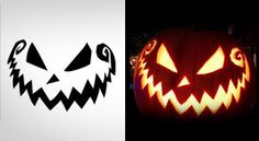5 Free Scary Halloween Pumpkin Carving Patterns / Stencils