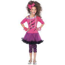 punk rocker costumes for girls | Rockstar Costume Kids Rock Star Pop Diva Halloween Fancy Dress