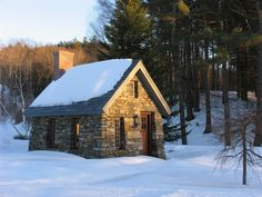 Inspired by Thoreau's Cabin - Built from Stone - http://www.tinyhouseliving.com/inspired-thoreaus-cabin-built-stone/