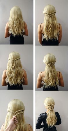 daenerys targaryen hairstyle tutorial - Google Search