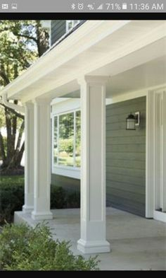 20 Amazing Front Porch Ideas You Must Try in 2018 82 wundersame Veranda Ideen Curb Appeal Front Porch Posts, Front Porch Columns, Porch Roof, Front Porches, Porch Column Wraps, House Columns, Front Porch With Columns, Front Yard Fence Ideas Curb Appeal, Diy Front Porch Ideas