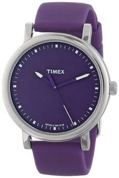 Women's Wrist Watches - Timex Unisex T2N9269J Originals Classic Round Purple Silicone Strap Watch *** Details can be found by clicking on the image.