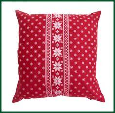 Kissen gefüllt ROT Zierkissen Schneeflocke Weihnachten Wohntextilien Kissen und Kissenhüllen Kissen mit Füllung
