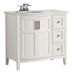 Photos Of  inch Winston Soft White Bath Vanity with Rounded Front
