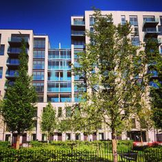 The apartments that share an orchard - so cool. At East Village London