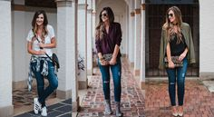 Blogger Mallory Fitzsimmons of Style Your Senses shows readers how to wear distressed skinny jeans three ways and justify their increased price point