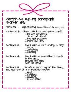 Essays descriptive paragraph