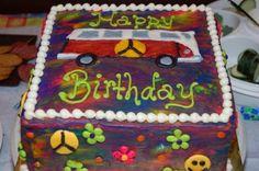 70's Themed Birthday Cake #Birthday