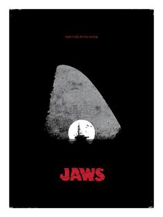 An alternative movie poster for the film Jaws, created by David Moscati, featured on AMP. Horror Movie Posters, Horror Movies, Scary Movies, Great Movies, Jaws Movie Poster, Alternative Movie Posters, Hai, Creature Feature, Star Wars