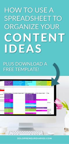 How to set up a content idea spreadsheet, map it to an editorial calendar, and use the spreadsheet to ensure there is variety in your posting schedule. Content Marketing Strategy, Small Business Marketing, Online Business, Marketing Ideas, Email Marketing, Internet Marketing, Digital Marketing, Business Calendar, Excel Calendar