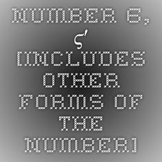 Number 6, ϛʹ [includes other forms of the number]