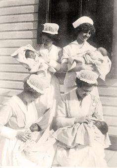 nurses with babies