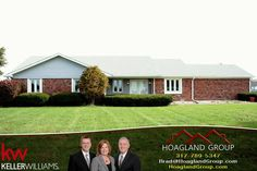 SOLD! Great country property! Check out this 1858sf brick ranch in Whiteland featuring new kitch & spacious great rm w/wood-burning FP. Flexible area off entry is perfect dining rm or den. Master has 2 closets, updated bath, & private access to covered porch. 7.7 acres complete w/fenced pasture, coral, & 8 stall horse barn--also good for storage, hobbies etc. Oversized rear load garage w/heater & work bench plus mini barn. #hoaglandgroup #homeforsale #whiteland #acreage