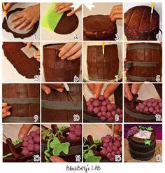Barrels of Wine Cake