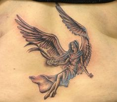 Infinity Name Tattoos with Angel | Angel tattoos designs as an expression of the inner self