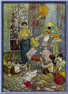 Edmund Dulac (1882-1953), Illustrazione per 'Rub'ayyat', 1909.