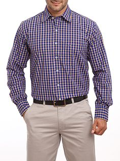 Do you love wearing checkered shirts? If yes then take a look at this Medium Blue shirt from the house of Color Plus. The contrast colored check designs make the shirt look attractive. Being a full sleeve shirt you can wear it for attending formal meets too. Since it is a tailored shirt the fitting of this shirt will amaze you. Be ready to receive compliments for this shirt since it delivers a classy look. It comes with a collar neck and contrast color buttons for delivering an irresistible…