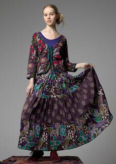 """Love"" print eco-cotton skirt - Gudrun Sjoden"