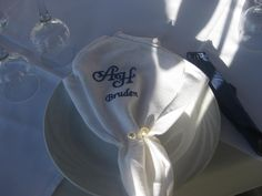 embroidered napkin for the bride..!!!