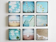 Summer Love - set of 9 photo blocks
