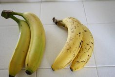 Make Bananas Last Longer: Bought one bunch of bananas and separated them in two. One half sat on the counter as usual and the other half you seal up in a plastic bag tightly. I used a produce bag and twist tie.  After several days you can see the difference. The bananas that sat out are quite ripe but the ones I sealed in the bag are still partially green. Wow how did I not know this before. Now we can have eatable bananas all week until next shopping day.