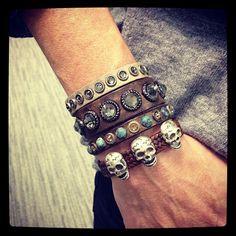 skull bracelets, so skull