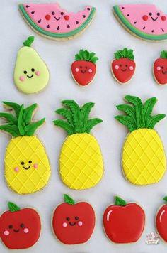 Kawaii Fruit Decorated Cookies Cute