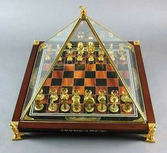 Chess Hobbies For Couples, Hobbies That Make Money, Chess Boards, Chess Piece Tattoo, How To Play Chess, Luxury Chess Sets, Tutankhamun, Franklin Mint, Chess Pieces