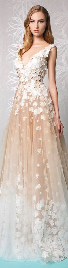 dress flowers tulle skirt long formal prom wedding chamagne dress embroidered embellished prom dress long prom dress champagne dress champagne prom dress evening dress long evening dress evening outfits formal dress formal event outfit