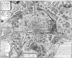 urban planning of Paris 1800.