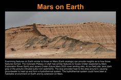 Panel Mars on Earth. Mars And Earth, Mars Planet, Colorado Plateau, Lava, Utah, Insight, Environment, Science, Explore