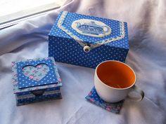 Irishel - картонажные подарки.: Картонаж. Чайная коробка с вышивкой.