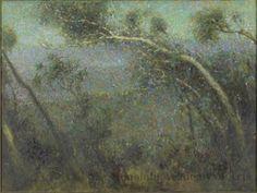 """""""Twilight on Tantalus,"""" Charles W. Bartlett, ca.1930, oil on canvas, 30 1/2 x 41"""", Honolulu Museum of Art."""