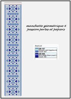 Manchette géométrique_6 - Passion Perles et Papiers Plus