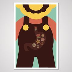 Dr Mario inspired art print 12x18 by AndrewHeath on Etsy, $5.00