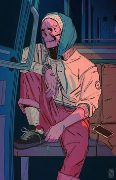 Find images and videos about art, illustration and skull on We Heart It - the app to get lost in what you love. Arte Pop, Dope Kunst, Arte Cyberpunk, Arte Horror, Dope Art, Psychedelic Art, Skull Art, Aesthetic Art, Art Inspo
