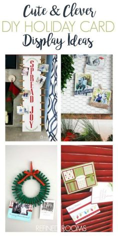 Looking for unique ways to display those Christmas cards this year? You won't want to miss this awesome round up of DIY holiday card display ideas (and product options if you're not the DIY-type!) at Refined Rooms