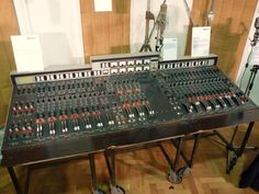 The EMI TG12345 Console, Abbey Road was made on one of these..