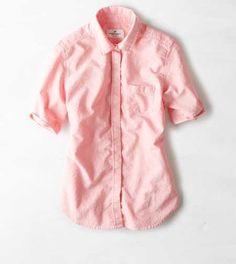 AEO Short Sleeve Oxford Shirt