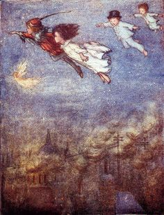 Peter Pan By Flora White, 1914...I love this!