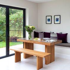 Küchen Küchenideen Küchengeräte Wohnideen Möbel Dekoration Decoration Living Idea Interiors home kitchen - Weiß und Eiche Wohnküche