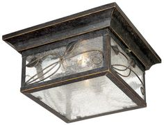 """French Garden 5 1/2"""" High Indoor - Outdoor Flushmount Light Unknown http://www.amazon.com/dp/B000SIQUP8/ref=cm_sw_r_pi_dp_cTSsvb0KGE55R"""