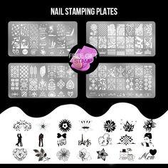 Nail Art Templates Nail Art Sunny 1 Set Nail Sticker Flower Water Splice Image Plate Nail Art Design Kits Nail Art Decoration Slider Decor Manicure