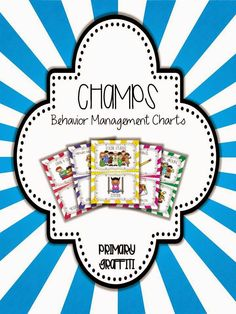 CHAMPs Behavior Management Cards