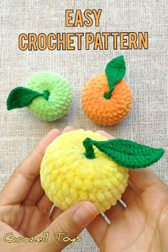 Easy crochet toy pattern amigurumi toy pattern crochet play food crochet apple crochet fruit pattern crochet vegetable amigurumi food pattern crochetfood crochettoys amigurumipattern free crochet pattern for the easy beginner page 18 of 49 Crochet Apple, Crochet Fruit, Crochet Food, Crochet Crafts, Crochet Projects, Crochet Baby, Crochet Fall Decor, Crochet Strawberry, Easy Crochet Animals