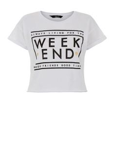 Keep wearing our Teens White Foil Heart Weekend T-Shirt in the colder months by layering it over a roll neck top and under a check shirt. £7.99 #newlook #fashion