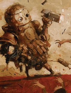Zombies vs. Robots #4 (2014) cover art by Ashley Wood