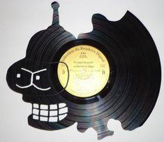 sculptures de disques vinyles 3   Sculptures de disques vinyles   vinyle Sculpture recyclage photo image disque