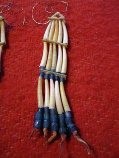 Vintage dentalium earrings