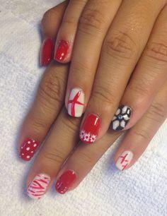 CND shellac nail art :)